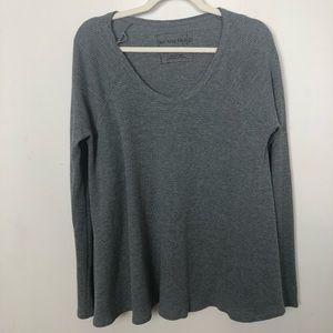 FREE PEOPLE Grey Thermal Long Sleeve Comfy Top